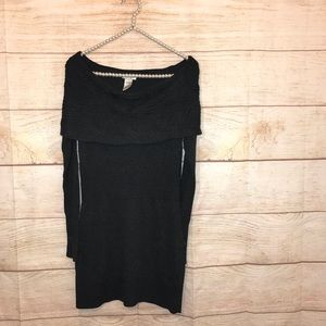Cache small knit off the shoulder sweater dress